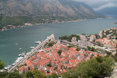 The old town of Kotor. Old town of Kotor, one of the best preserved medieval towns in this part of the Mediterranean Stock Images