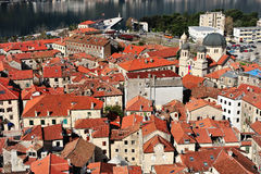 Old town of Kotor from above Stock Image