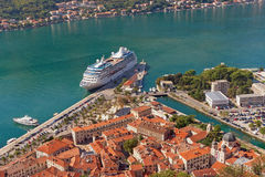 Old Town of  Kotor and Bay of Kotor. Montenegro Royalty Free Stock Image