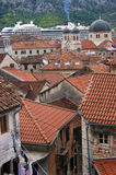 The old town of Kotor. A fragment of the Old City of Kotor (Montenegro Royalty Free Stock Images