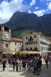 Old town of Kotor square,Montenegro Royalty Free Stock Photo