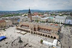 Old town in Krakow, Poland. View of the Old Town in Krakow, Poland Royalty Free Stock Photography