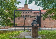 The Old Town Krakow, Poland. Krakow, Poland - the second biggest city in Poland, Krakow offers a mix of history and modernity. Here in the picture a perspective royalty free stock photo