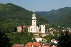 Old town Kremnica, Slovakia royalty free stock image