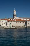 Old town of Krk. Seen from the sea Royalty Free Stock Image