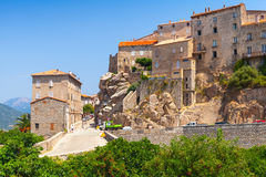 Old town landscape, Sartene, Corsica, France Stock Photo