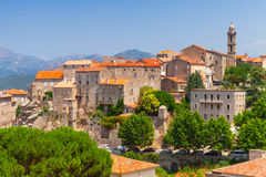 Old town landscape, Sartene, Corsica Royalty Free Stock Photo