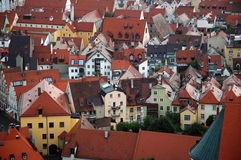 Old town of Landshut, Bavaria. View over Landshut, a city in Bavaria, Germany Royalty Free Stock Photo