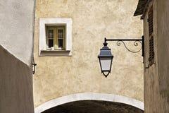 Old town Lane in Nonza, Cap Corse (west coast), Corsica, France Stock Photos