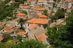 Old town of Lastovo Stock Image