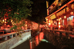 Old Town of Lijiang. At night,yunnan,china royalty free stock photography