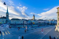 Old town and Limmat River, Zurich Royalty Free Stock Photos