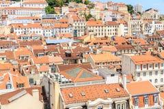 Old town lisbon and Castelo de Sao Jorge Royalty Free Stock Image