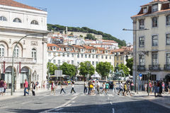 Old town of Lisbon Stock Image