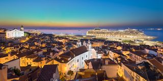 Old town of Lisbon, Portugal royalty free stock images