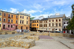 Old town of Lublin city. Stock Photos