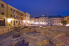 Old town of Lublin at night Royalty Free Stock Images
