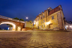 Old town of Lublin at night Stock Image