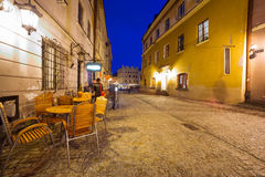 Old town of Lublin at night, Poland Stock Image