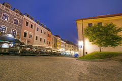 Old town of Lublin at night, Poland Royalty Free Stock Photo
