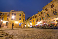 Old town of Lublin at night, Poland Royalty Free Stock Photos