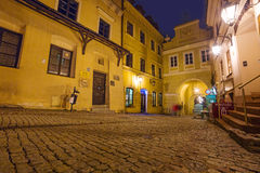 Old town of Lublin at night, Poland Royalty Free Stock Photography