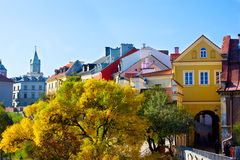 Old town, Lublin, Poland. Colorful old town at fall, Lublin, Poland Stock Image