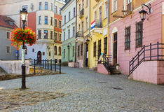 Old town, Lublin, Poland. Colorful old town small street, Lublin, Poland Royalty Free Stock Photos