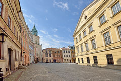 The Old Town in Lublin, Poland Stock Photo