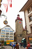 Old town Lucerne Switzerland Stock Photo