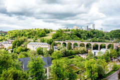 The old town of Luxembourg city Stock Images