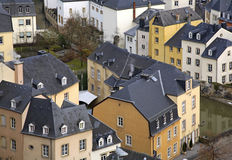 Old town in Luxembourg city.  Luxembourg.  Stock Image