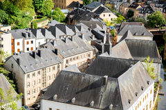 The old town of Luxembourg city Royalty Free Stock Photos