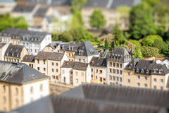 The old town of Luxembourg city stock photo