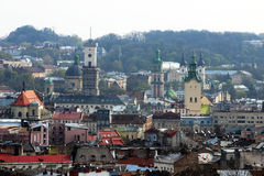 Old town Lviv. Photo taken in the old city of Lviv Royalty Free Stock Images