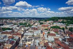 Lviv in Ukraine Stock Photography