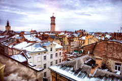 Old town of the Lvov city Royalty Free Stock Photo