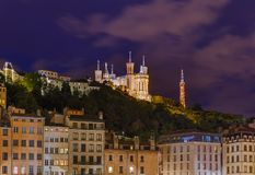Old town of Lyon - France Stock Images