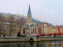 The old town of Lyon - France Stock Images