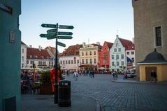 Old town main square, Tallinn, Estonia Royalty Free Stock Photo