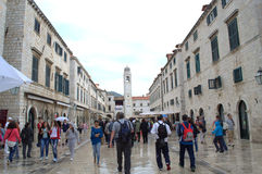 Old town main street,Dubrovnik Royalty Free Stock Photos
