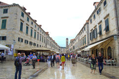 Old town main street,Dubrovnik Royalty Free Stock Photo