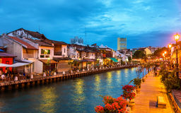 The old town of Malacca, a UNESCO World Heritage Site in Malaysia Royalty Free Stock Photos