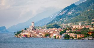 Old town of Malcesine royalty free stock photos