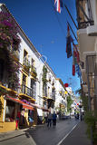 The Old Town of Marbella on the Costa Del Sol Andalucia, Spain. Marbella is a city in Andalusia, Spain, by the Mediterranean, situated in the province of Malaga Royalty Free Stock Photo