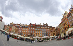 Old Town Market Place in Warsaw, Poland Stock Images