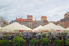 Old Town Market Place of Warsaw, Poland Royalty Free Stock Photos