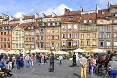 Old Town Market Place in Warsaw Royalty Free Stock Photo