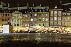 Old Town Market square at night. Warsaw. Poland Royalty Free Stock Image