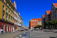 Old Town and Market Square in Poland, Europe, WROCLAW, POLAND - 12.09.2016 Royalty Free Stock Images